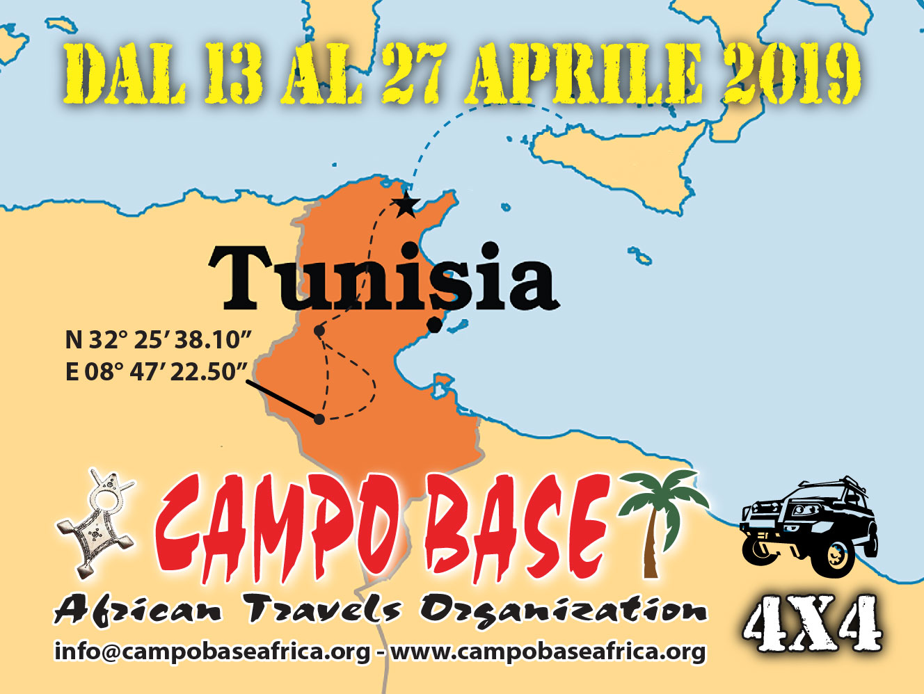 Pasqua in Tunisia in 4X4 Sif Es Souane